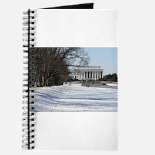 Lincoln memorial winter scene Journal