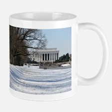 Lincoln memorial winter scene Mug