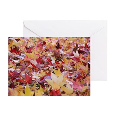 Fire leaves, Greeting Cards (Pk of 10)