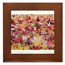Fire leaves, Framed Tile