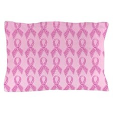 Pink Ribbon Jewels Pillow Case