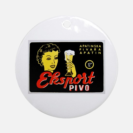 Serbia Beer Label 1 Ornament (Round)