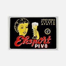 Serbia Beer Label 1 Rectangle Magnet