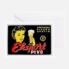 Serbia Beer Label 1 Greeting Card