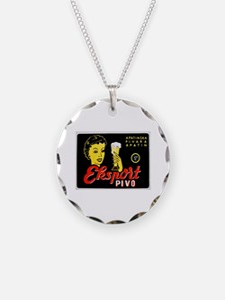 Serbia Beer Label 1 Necklace