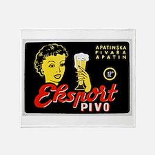 Serbia Beer Label 1 Throw Blanket