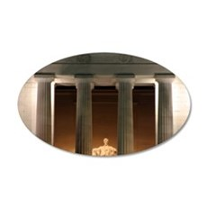 Lincoln memorial at night Wall Decal