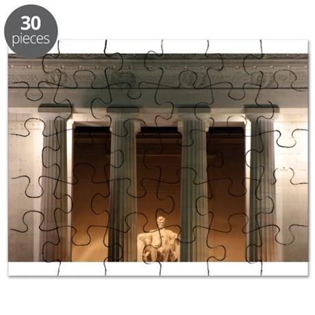Lincoln memorial at night Puzzle
