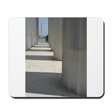 Lincoln Memorial columns frame the Washington Monu