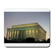 Lincoln Memorial at night Mousepad