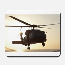 Navy Rescue Helicopter Mousepad