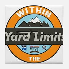 Within The Yard Limits Logo Tile Coaster
