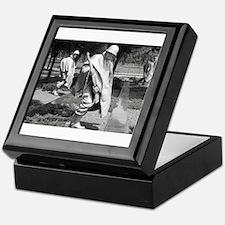 korean war memorial veterans statues Keepsake Box