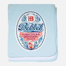 Norway Beer Label 4 baby blanket