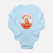 Norway Beer Label 3 Long Sleeve Infant Bodysuit