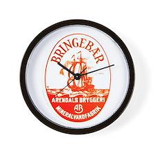 Norway Beer Label 3 Wall Clock