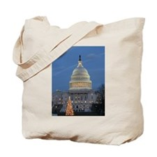 US Capitol Building celebrates Christmas Tote Bag