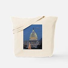 US Capitol Building celebrates Christmas Tote Bag