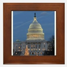 US Capitol Building celebrates Christmas Framed Ti