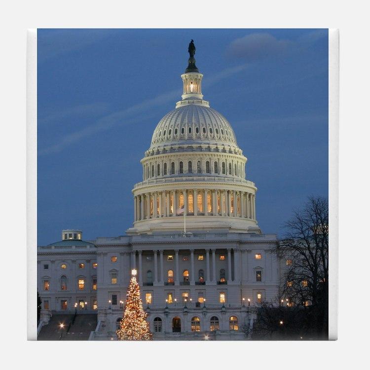 US Capitol Building celebrates Christmas Tile Coas