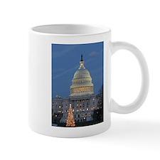 US Capitol Building celebrates Christmas Small Mugs