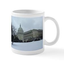 US Capitol Building Snow Scene Mug