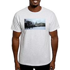 US Capitol Building Snow Scene T-Shirt
