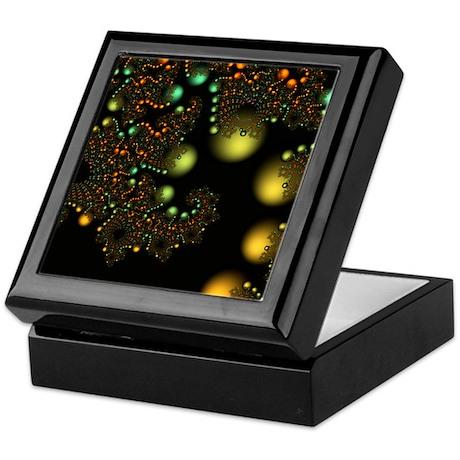 Golden Pearls Fractal Keepsake Box
