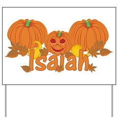 Halloween Pumpkin Isaiah Yard Sign