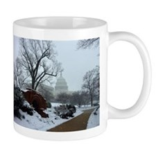 US Capitol Building Snow Photo Mug
