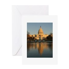 US Capitol Building Sunset Greeting Card