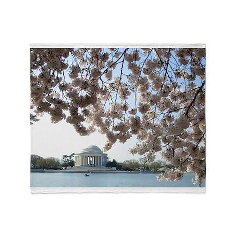 Peal bloom cherry blossom frames Jefferson Memori
