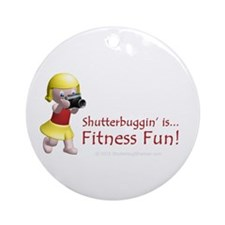 Photo Fitness Girl Ornament (Round)