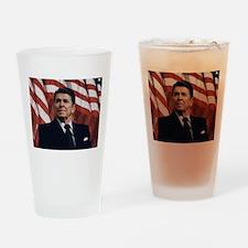 Ronald Reagan Drinking Glass