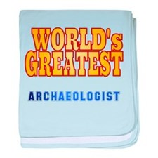 World's Greatest Archaeologist baby blanket