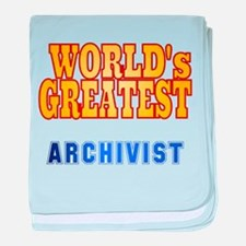 World's Greatest Archivist baby blanket