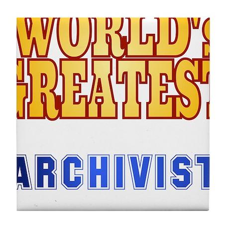 World's Greatest Archivist Tile Coaster