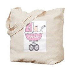 Vintage Chick New Baby Girl Tote Bag
