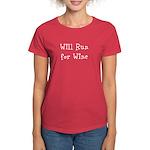 Will Run for Wine TM Women's Dark T-Shirt