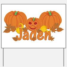 Halloween Pumpkin Jaden Yard Sign
