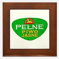 Poland Beer Label 11 Framed Tile