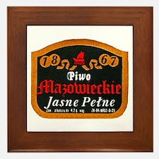 Poland Beer Label 10 Framed Tile