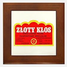Poland Beer Label 9 Framed Tile