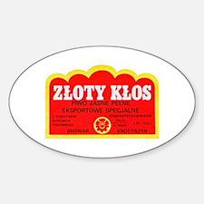 Poland Beer Label 9 Sticker (Oval)