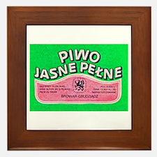 Poland Beer Label 8 Framed Tile