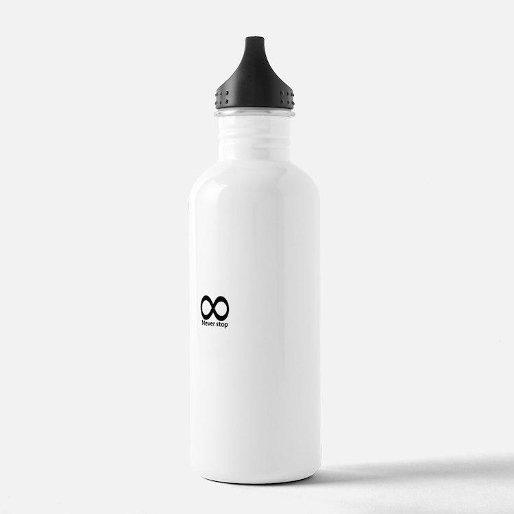 infinity Never stop Water Bottle