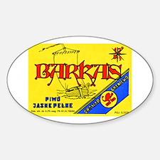Poland Beer Label 7 Sticker (Oval)