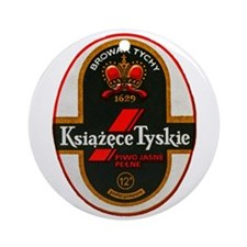 Poland Beer Label 6 Ornament (Round)