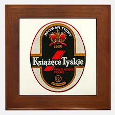 Poland Beer Label 6 Framed Tile