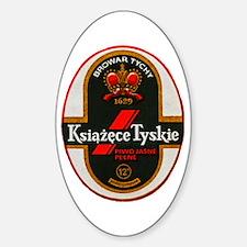 Poland Beer Label 6 Sticker (Oval)